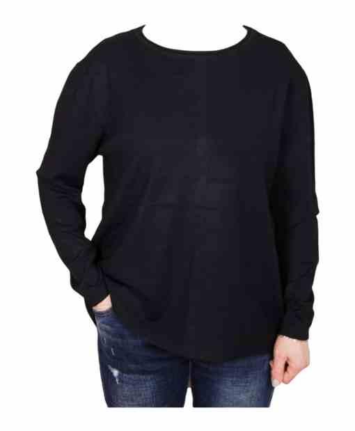 Дамски пуловер 2-384-1 цвят черен