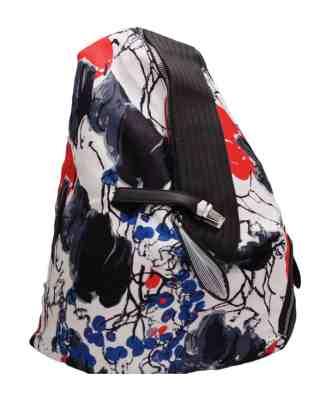 Дамска чанта 002-697-50 цвят бяло и червено