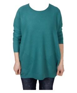 Дамски пуловер XL 2-390-4 цвят тюркоаз