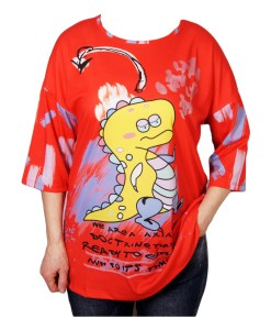 Дамска блуза 0019-565-54 цвят червен