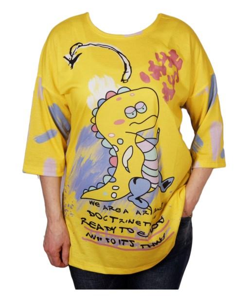 Дамска блуза 0019-565-53 цвят жълт