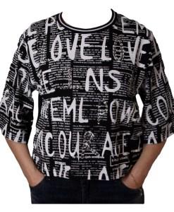 Дамска блуза 0019-565-2 цвят черен