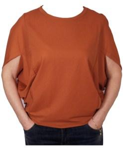 Дамска блуза 0019-565-50 цвят кафяв