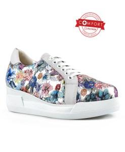 Дамски обувки естествена кожа 08-178-2 на цветя