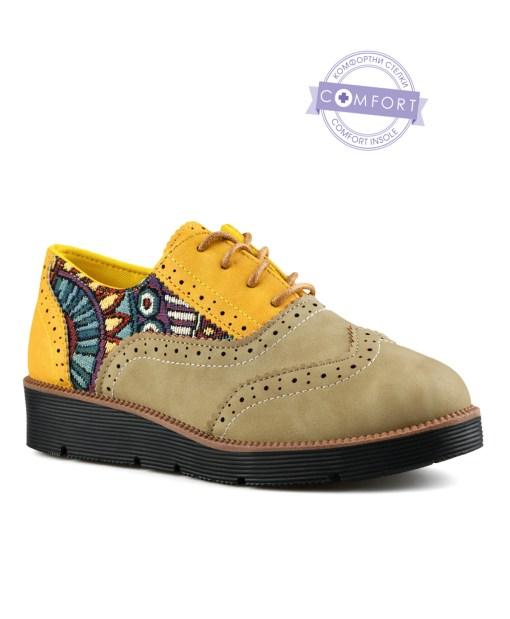 Дамски обувки 085-52 цвят бежов