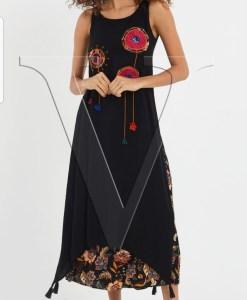 Дамска рокля 017-194-4 цвят черен