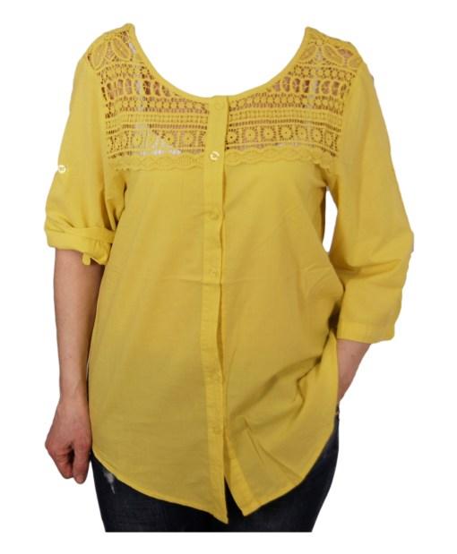 Дамска блуза XL 119-253-32цвят жълт