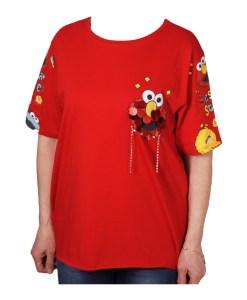 Дамска блуза 0019-565-27 цвят червен