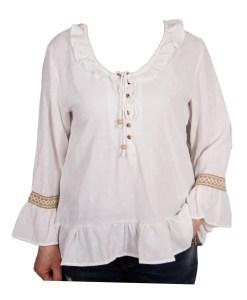 Дамска блуза 00-575-5 цвят бял