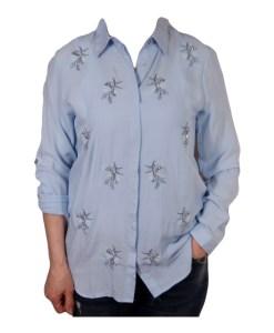 Дамска блуза 00-574-72 цвят син