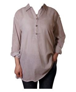 Дамска блуза 00-573-2 цвят бежов
