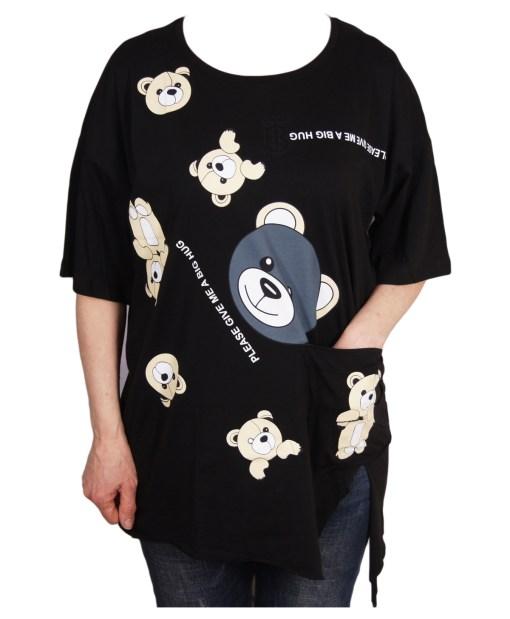 Дамска блуза 0019-562-2 цвят черен