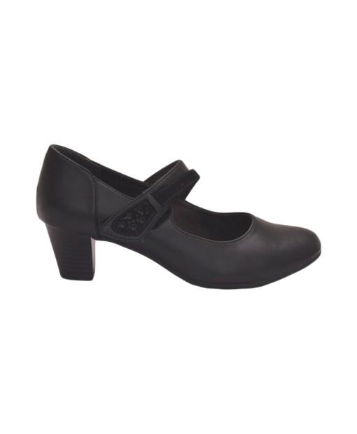 Дамски обувки 086-03 цвят черен с каишка