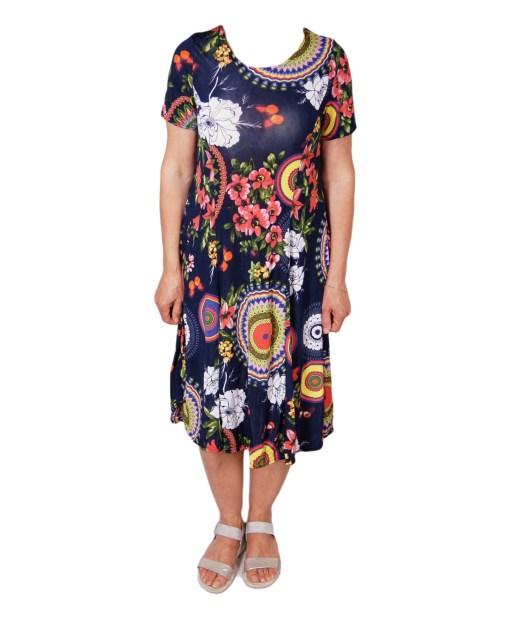 Дамска рокля 017-192-2 цвят черен