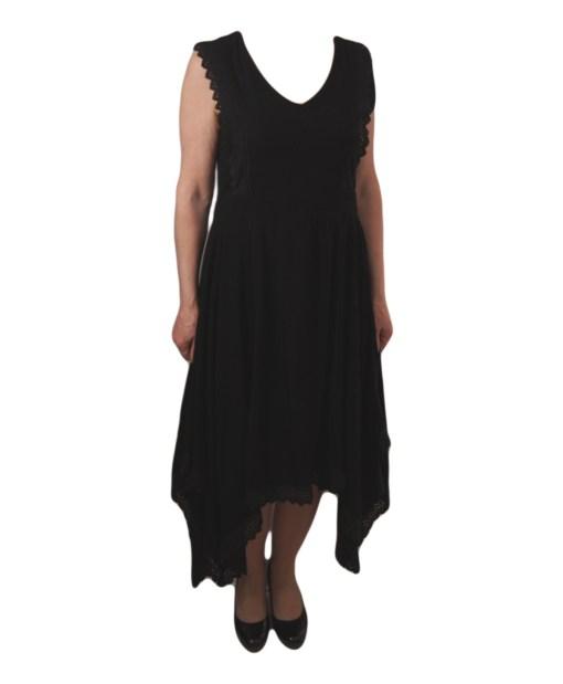 Дамска рокля 017-193-3 цвят черен