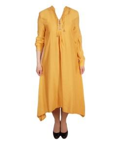 Дамска рокля 017-193-2 цвят горчица
