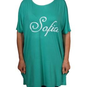 Дамска блуза XL 21-095-82 цвят зелен