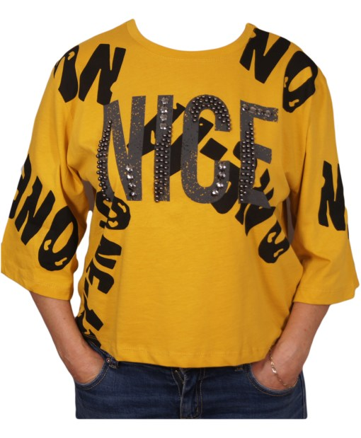 Дамска блуза 0019-560-1 цвят горчица