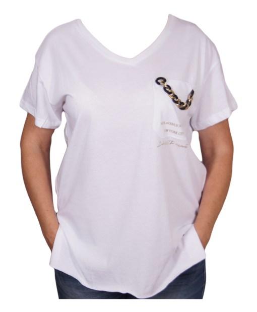 Дамска блуза 0019-559-80 цвят бял