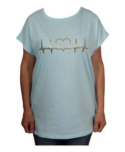 Дамска макси блуза XL 21-095-2 цвят тюркоаз