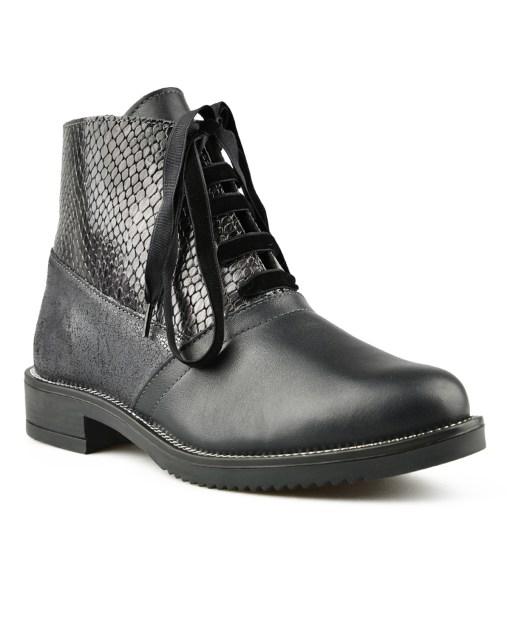 Дамски обувки естествена кожа 08-177цвят черен