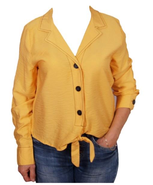 Дамска блуза 00-572-2 цвят горчица
