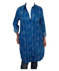 Дамска блуза 00-572-4 цвят син