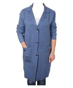 Дамска жилетка 20-099 цвят син