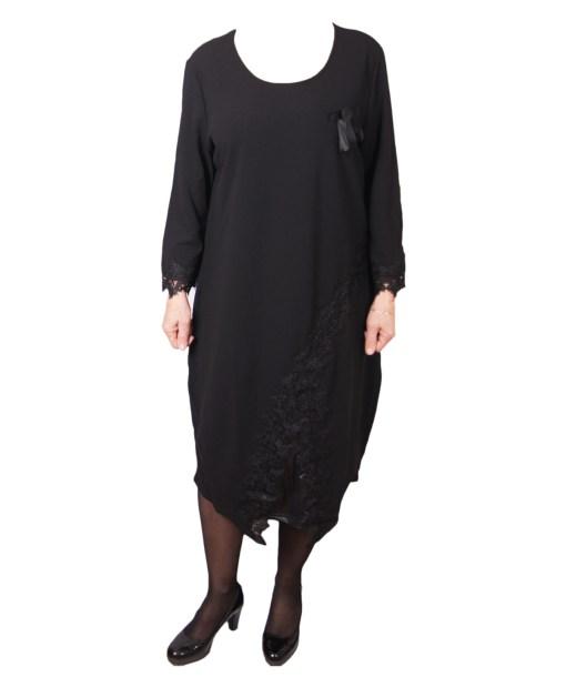 Дамска рокля XL 18-189-9цвят черен
