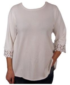 Дамски пуловер 2-385цвят бял