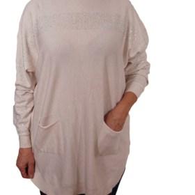 Дамска блуза XL 01-091цвят бежев