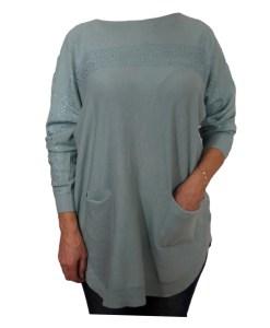 Дамска блуза XL 01-091-4 цвят зелен