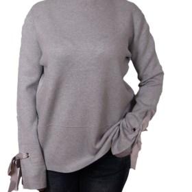 Дамски пуловер 2-386-41 цвят сив