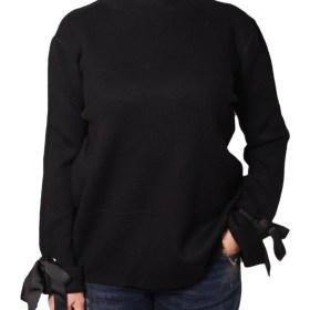 Дамски пуловер 2-386-45 цвят черен