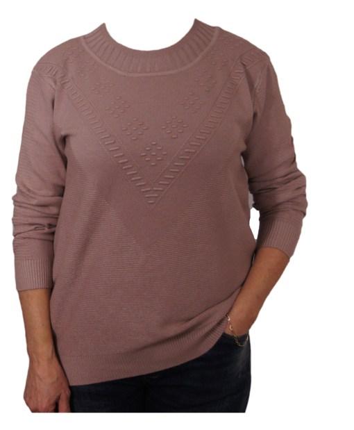 Дамска блуза XL 01-097-70 цвят бежов