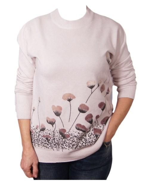 Дамска блуза XL 01-092-3 цвят бежов