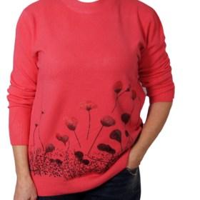 Дамска блуза XL 01-092-1 цвят циклама