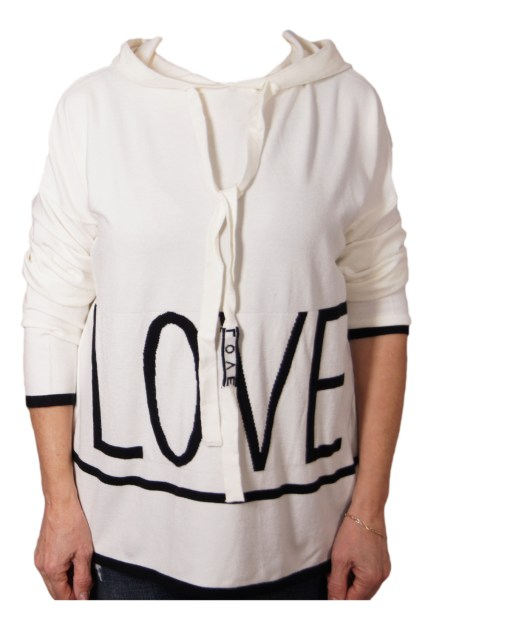 Дамски пуловер 2-386-31 цвят бял