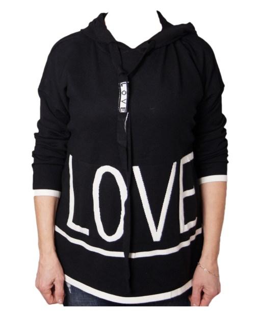 Дамски пуловер 2-386-34 цвят черен