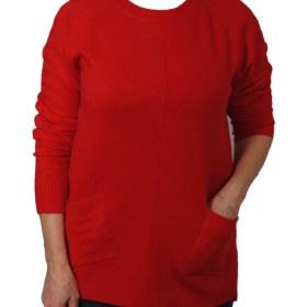 Дамски пуловер 2-389-62 цвят червен