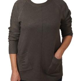 Дамски пуловер 2-389-63 цвят зелен