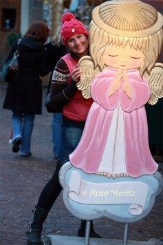 me at the Christmas market , Innsbruck