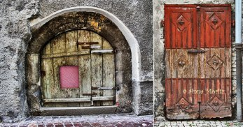 Doors in the old town, Hall in Tirol