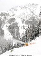 Austrian ski resort Axamer Lizum, once