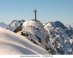 summit cross at Greitspitze, Ischgl , Austria,once