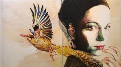 Cornelia Schleime, Female Kingfisher (2016)