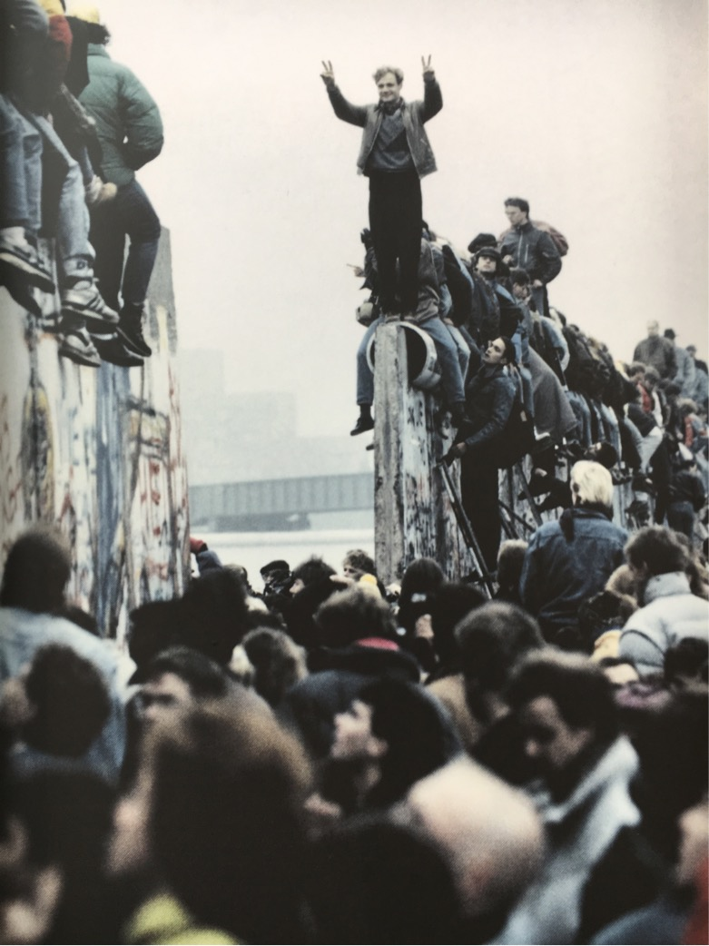 The Berlin Wall comes down - 9 November 1989.