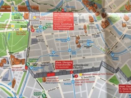 'H' - Friedrichstrasse S-Bahn Crossing 'I' - Checkpoint Charlie