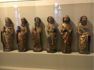 Mediaeval sculpture of six of the Apostles