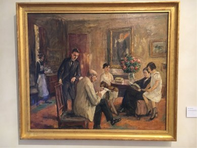Max Liebermann, The Artist sketching in the circle of his family, 1926